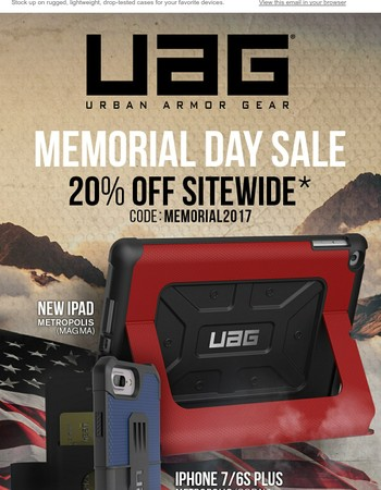 Memorial Day Sale | 20% off Sitewide