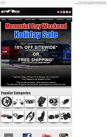 European Auto Source - Memorial Day Weekend Sale!