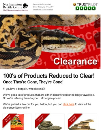 Stock Clearance Sale - Low Prices Until It's Gone!