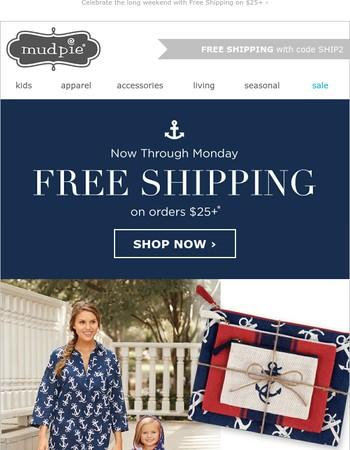 ★ FREE Shipping Weekend!
