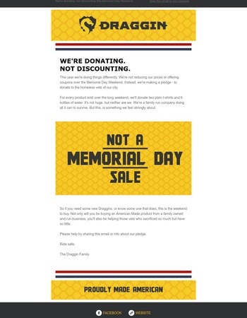 NOT A MEMORIAL DAY SALE