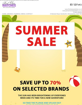 Bank Holiday Offers Now Online - Ends Midnight Monday 29th May!