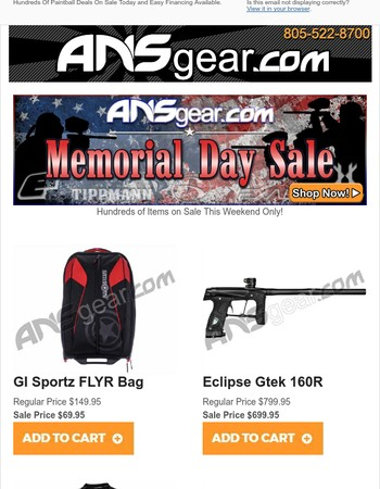 Memorial Day Paintball Sale