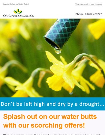 Scorching offers on water butts this Bank Holiday