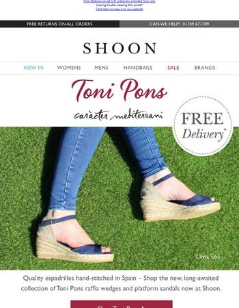 Shop New Toni Pons | Quality Hand-Stitched Espadrilles