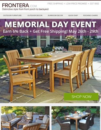 Two Days Left - Earn 6% Back + Free Shipping!