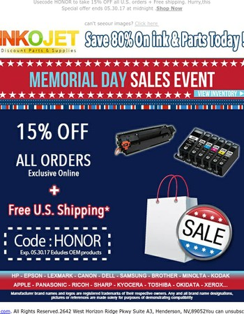 ⭐Happy Memorial Day Weekend! | Take 15% OFF TODAY ONLY, ENDS SOON