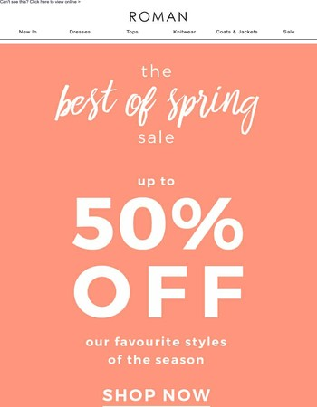There's still chance to shop Sale