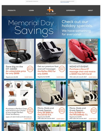 Memorial Day Massage Savings
