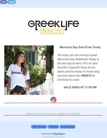 Greek Life Threads Sale Ending Today