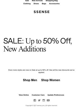 New discounts applied: Shop our Sale
