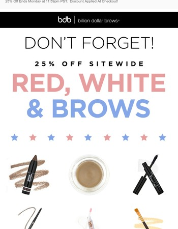 Last Chance for 25% off Sitewide! ❤
