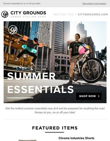 Shop Summer Essentials at City Grounds!☀