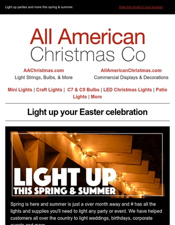 Get ready for Spring & Summer with lights