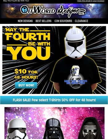 May the Fourth Sale! 50% off!