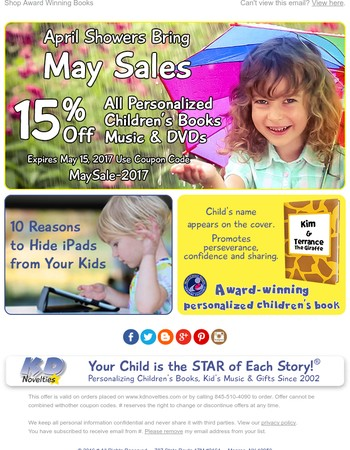 April Showers Bring May Sale