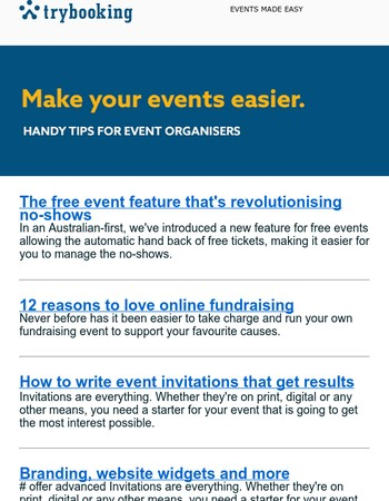 Why fundraising is easier than ever, getting event sponsors & more