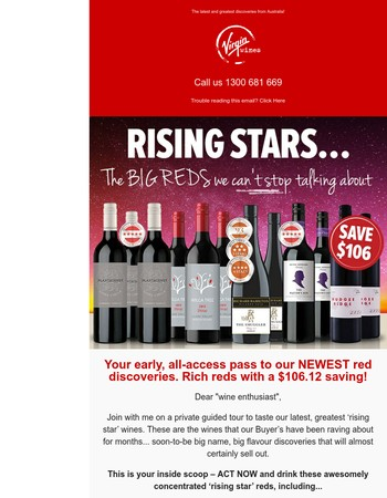 Super-star reds new to our cellars...  be the first and SAVE $106