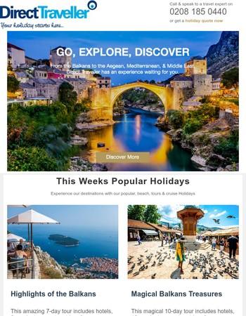 Dubai fr £494: North Cyprus fr £315 | Balkans & Greece Tours 15% off & More