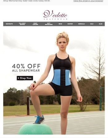 Last Day! 40% Off All Shapewear!