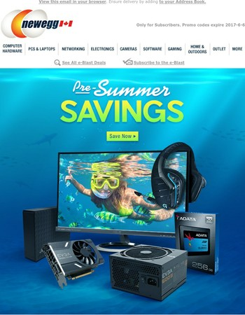 Get Awesome Pre-Summer Savings on Computers, Electronics, Parts, Home Theater & More