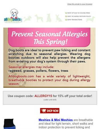 Prevent Seasonal Allergies  - 15% Off!