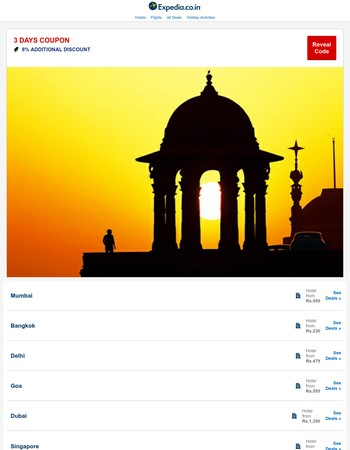 Expedia India Newsletter
