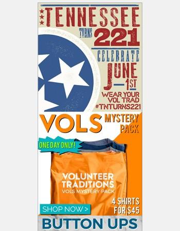Happy 221st Birthday, TN! - Flash Sale starts NOW!