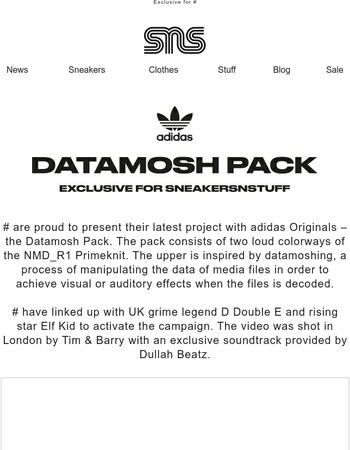 Introducing Sneakersnstuff & adidas Originals Datamosh Pack
