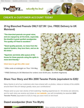 25 kg Blanched Peanuts ONLY £27.99 ! *FREE Delivery to UK Mainland*