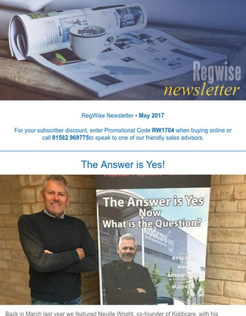 Regwise News from Regtransfers