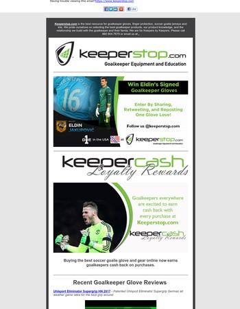 Goalkeeper Glove Contest, Glove Reviews, and New Loyalty Reward Program