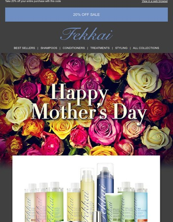 Happy Mother's Day from FEKKAI - 20% off code