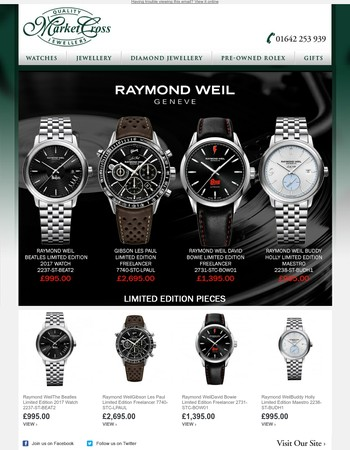 The Musical Themed Limited Edition Raymond Weils