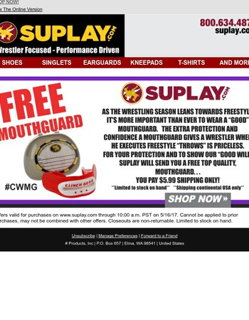 FREE Mouthguard - Extra Protection!  Get yours NOW!