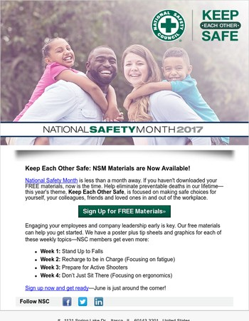 Are you ready? National Safety Month is next month!
