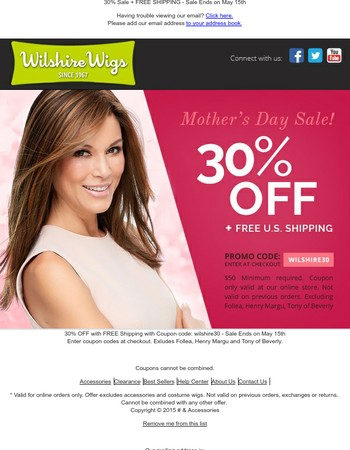 ★ Mother's Day Sale ★ 30% Off & Free Shipping - New Spring 2017 Collections