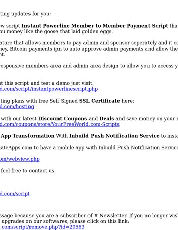 New Instant Powerline Member to Member Payment Script