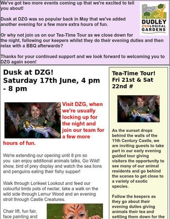 DUSK & TEA TIME TOURS AT DZG