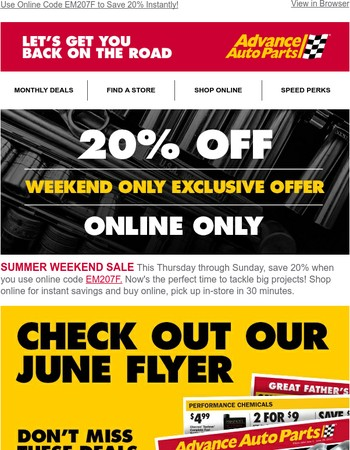 Save 20%, plus Hot Deals on Oil, A/C, and Brakes