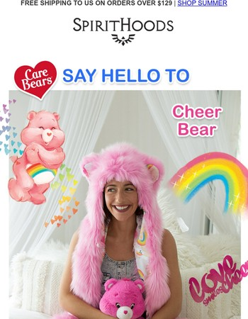 Calling all Care Bears! Cheer & Grumpy Bear hoods are here.