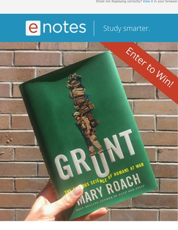 Win a (signed!) copy of Grunt