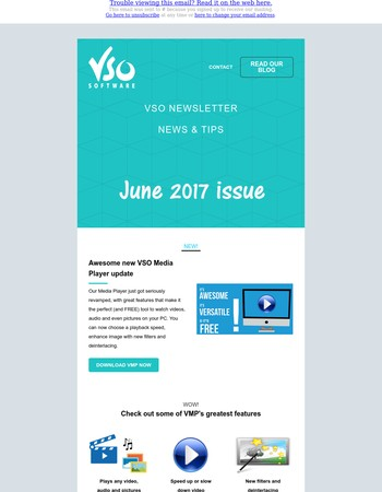 June Issue: New VSO Media Player Special, customize your program, how to improve video image quality