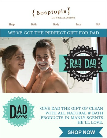 Give The (Rad) Dad In Your Life The (Manly) Gift Of Clean!