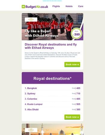 Fly like a Royal with Etihad Airways