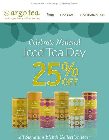 It's National Iced Tea Day!