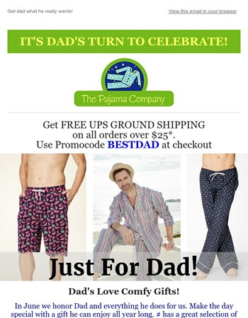 Free Shipping on Great Gifts for Dad