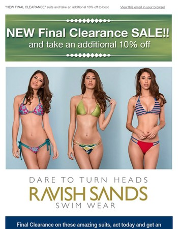 This weekend only! Final Clearance on these items, plus an additional 10% off!!