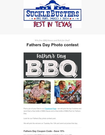 Fathers Day Photo Contest - Win FREE products for Dad