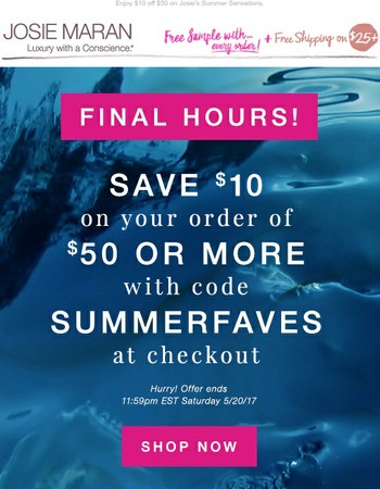 Last Chance to Save on Summer Faves